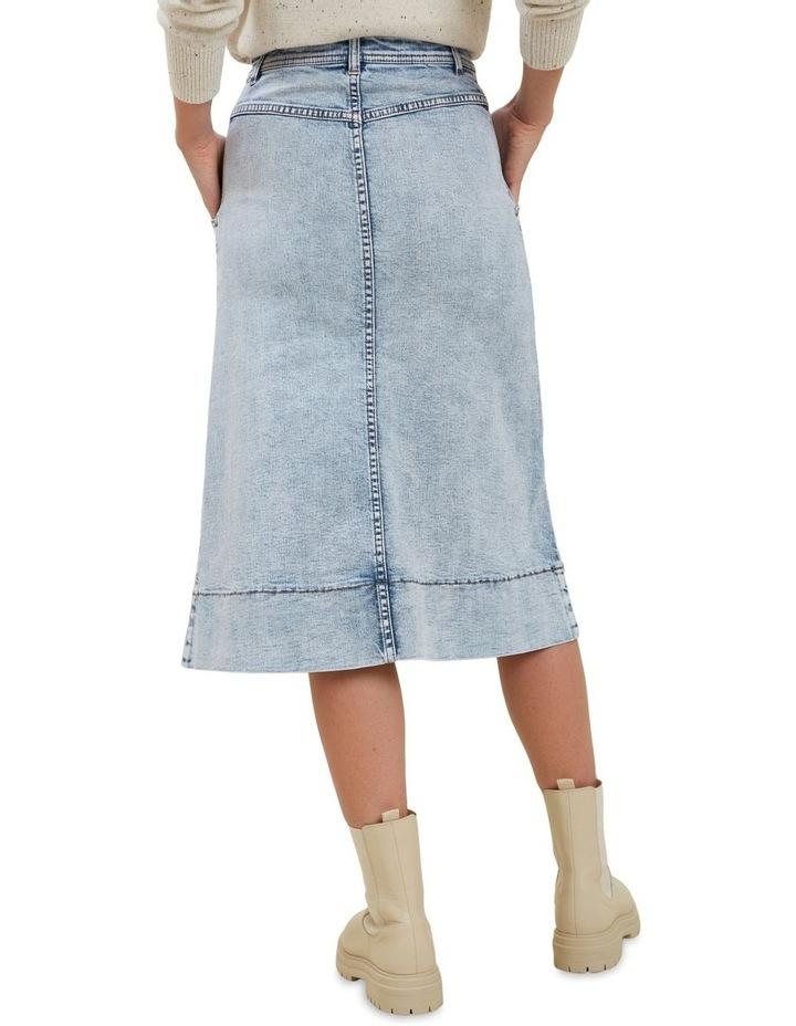 A Line Denim Midi Skirt image 3