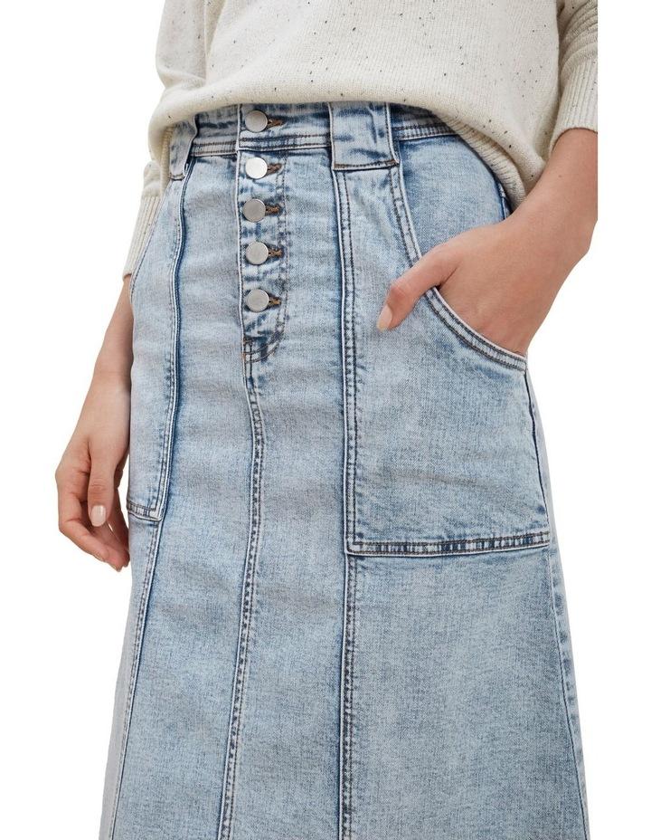 A Line Denim Midi Skirt image 4