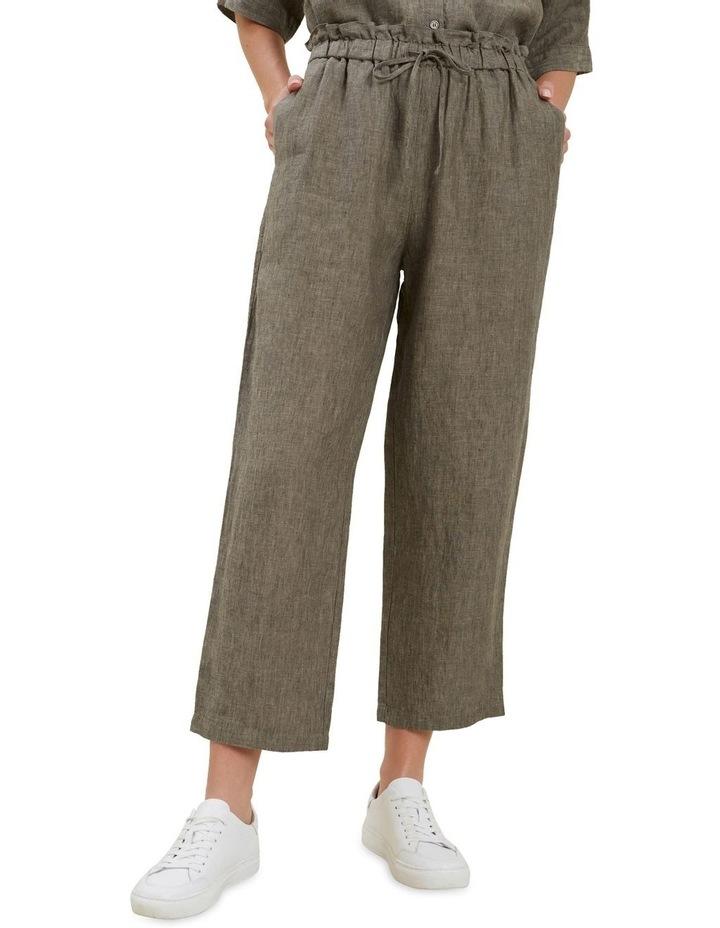 Linen Tie Up Pants image 1