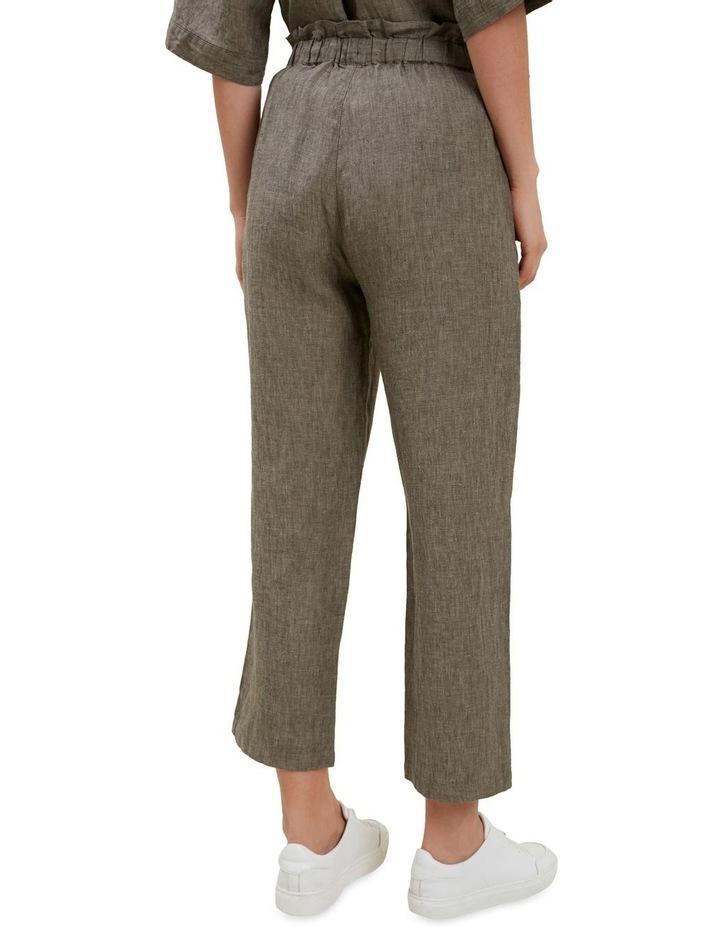 Linen Tie Up Pants image 3