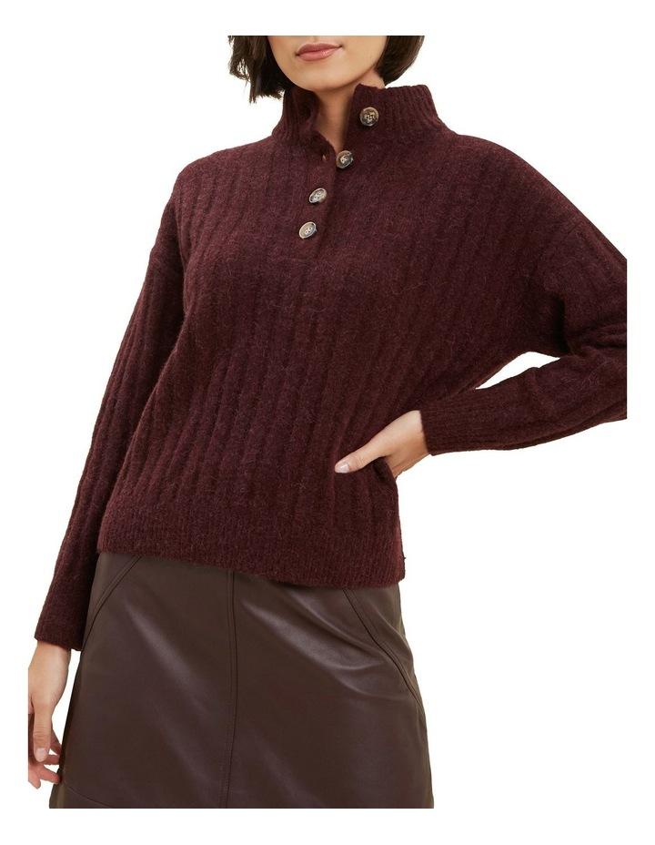 Rib Collared Sweater image 1