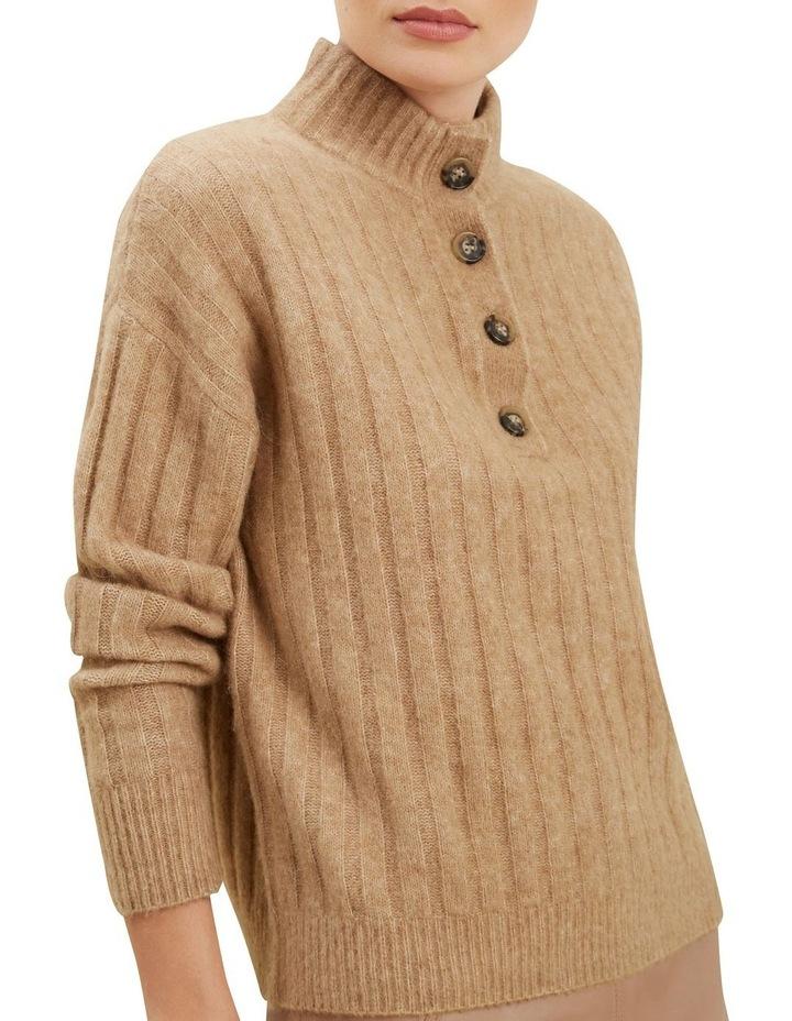 Rib Collared Sweater image 4