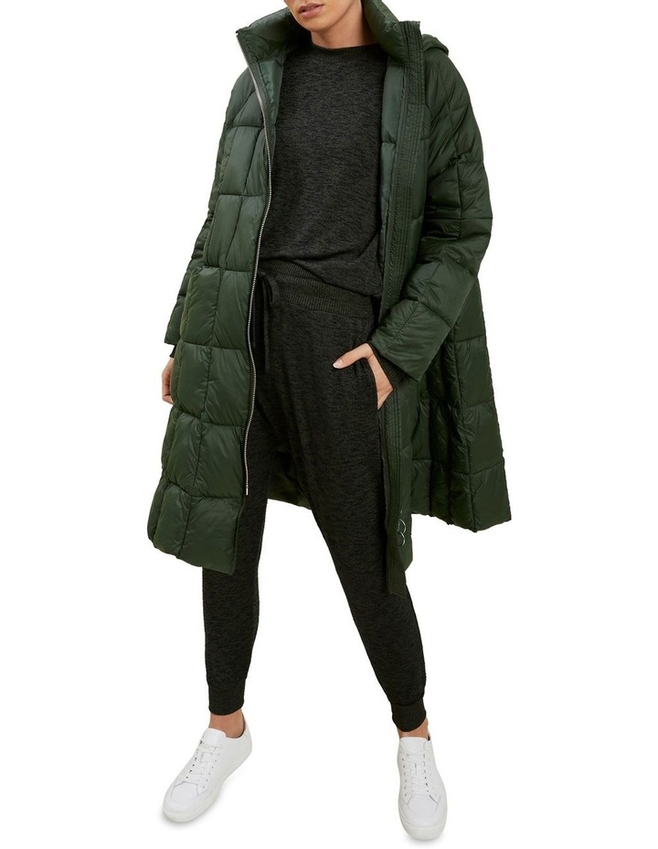 Quilted A Line Puffer Jacket image 1
