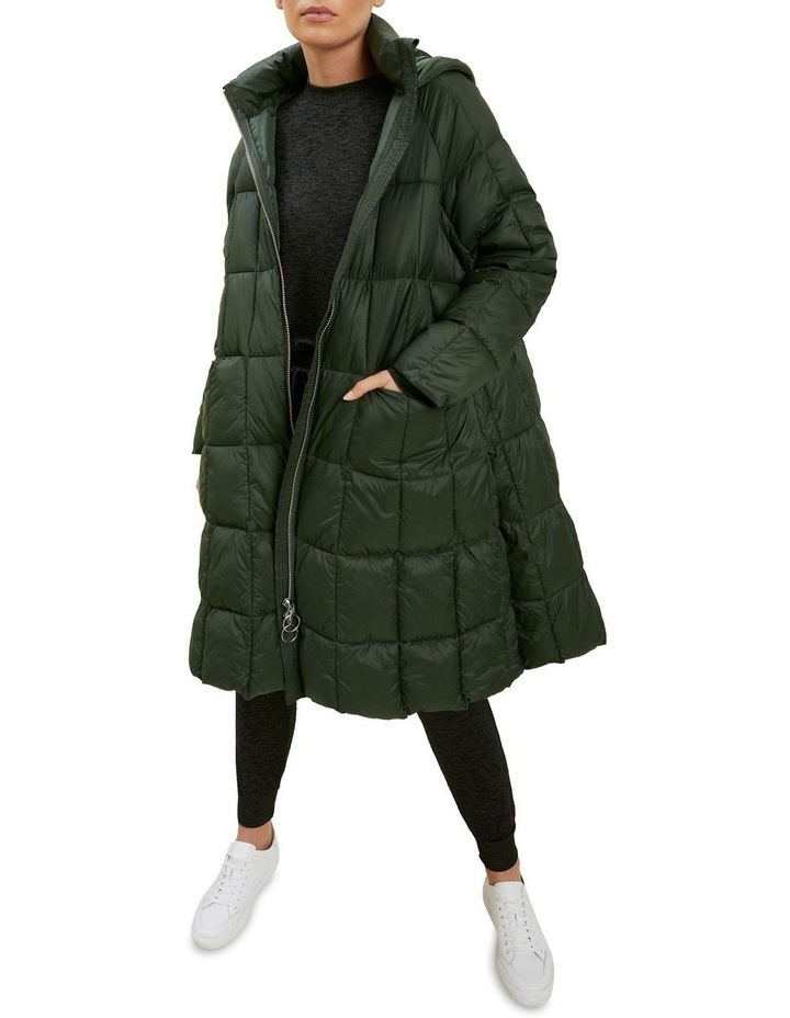 Quilted A Line Puffer Jacket image 2