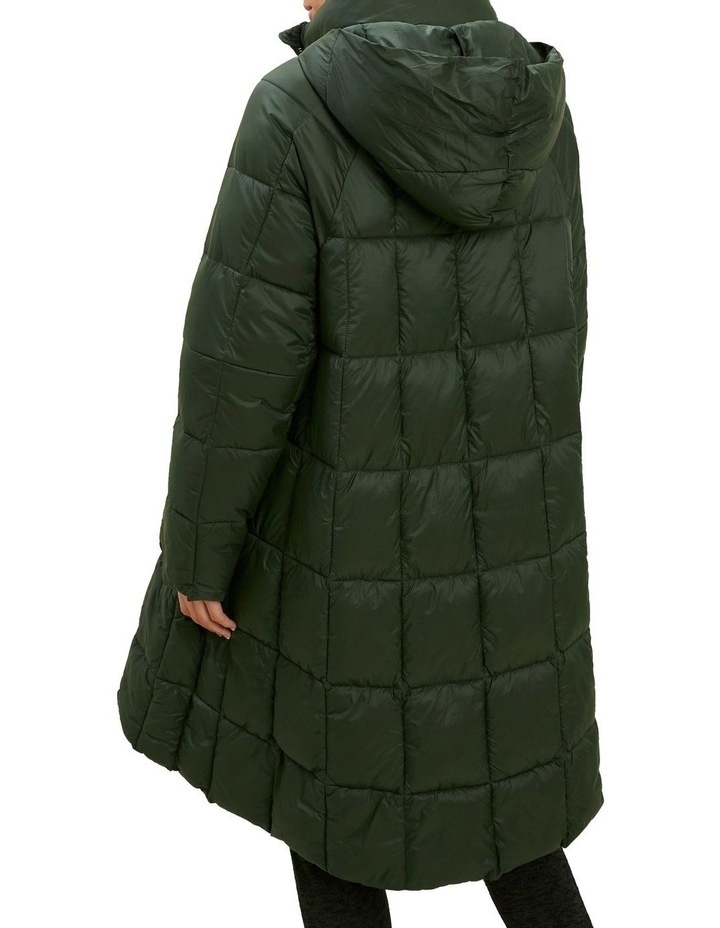 Quilted A Line Puffer Jacket image 3