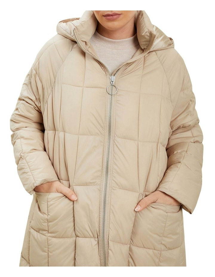 Quilted A Line Puffer Jacket image 4
