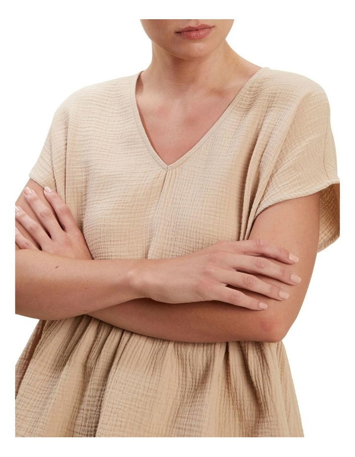 V Neckline Cheesecloth Top image 4