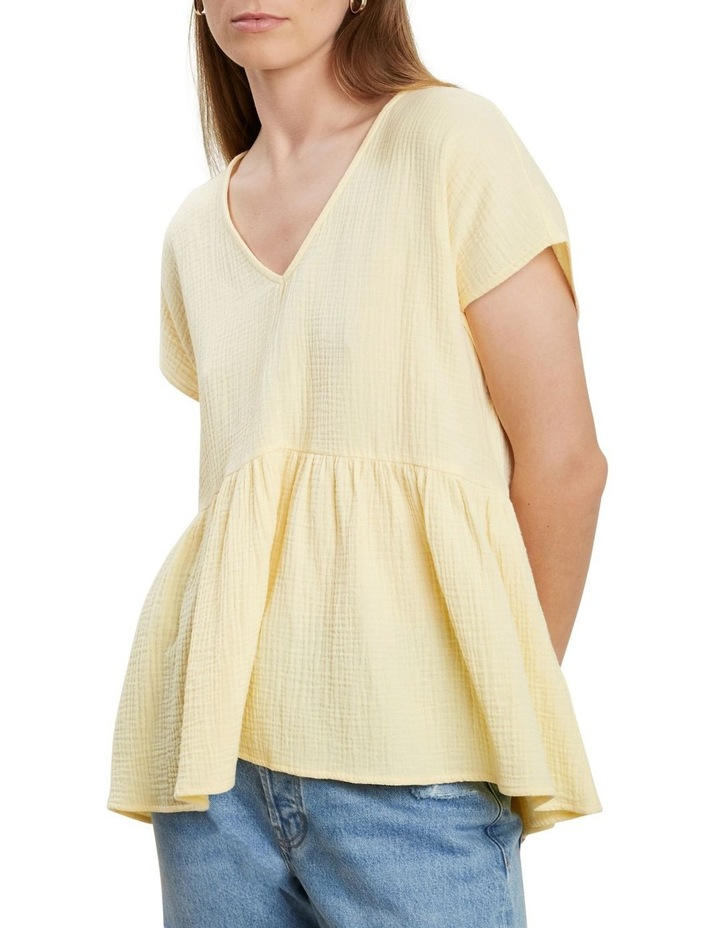 V Neckline Cheesecloth Top image 1