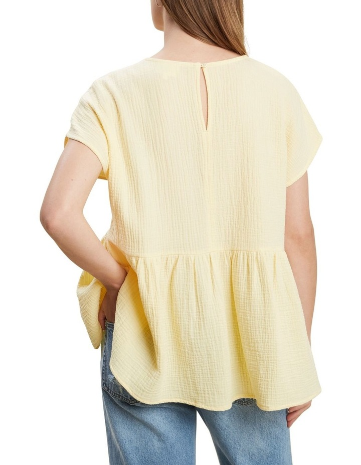 V Neckline Cheesecloth Top image 3