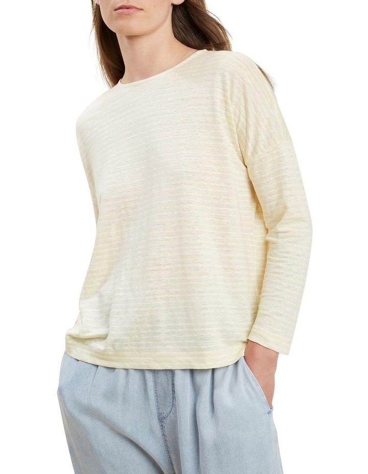 3/4 Sleeve Linen Tee image 1