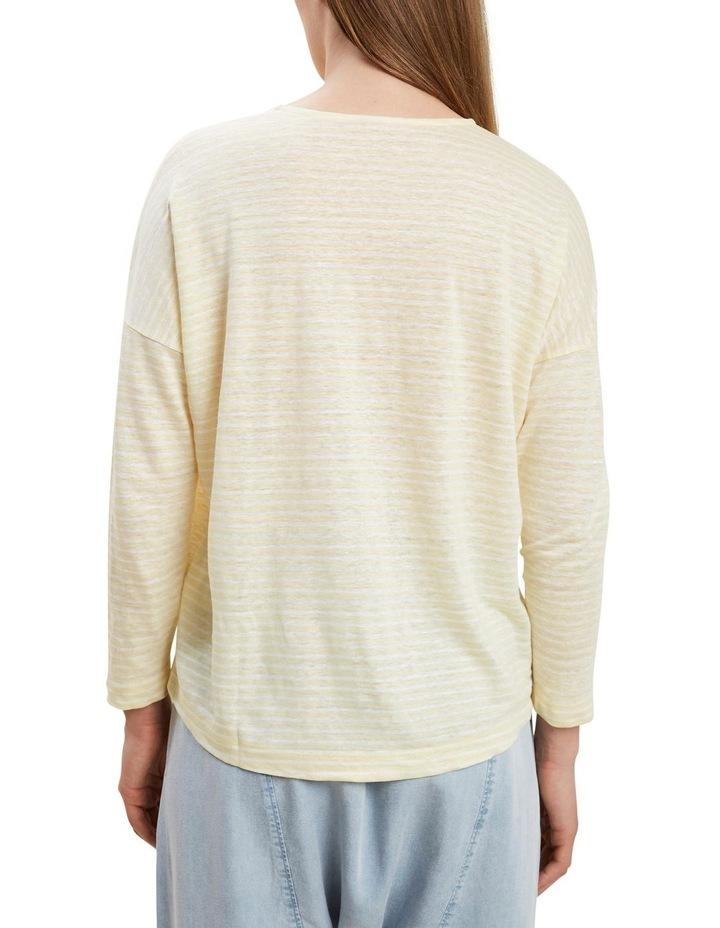 3/4 Sleeve Linen Tee image 3