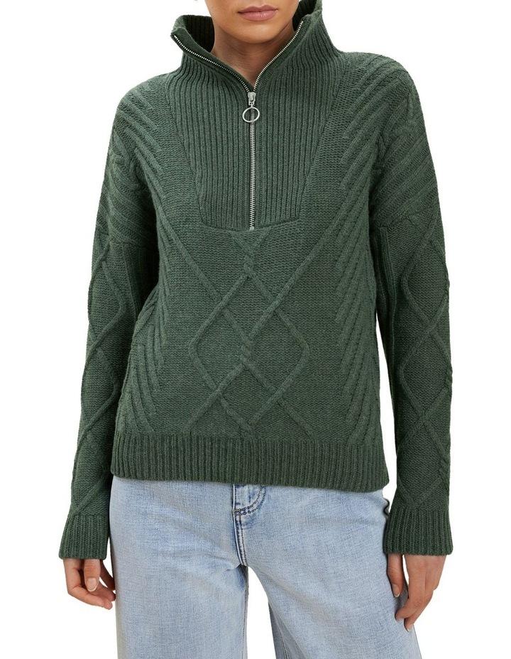 Zip Funnel Neck Sweater image 1