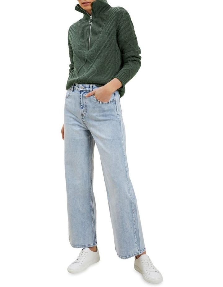 Zip Funnel Neck Sweater image 2