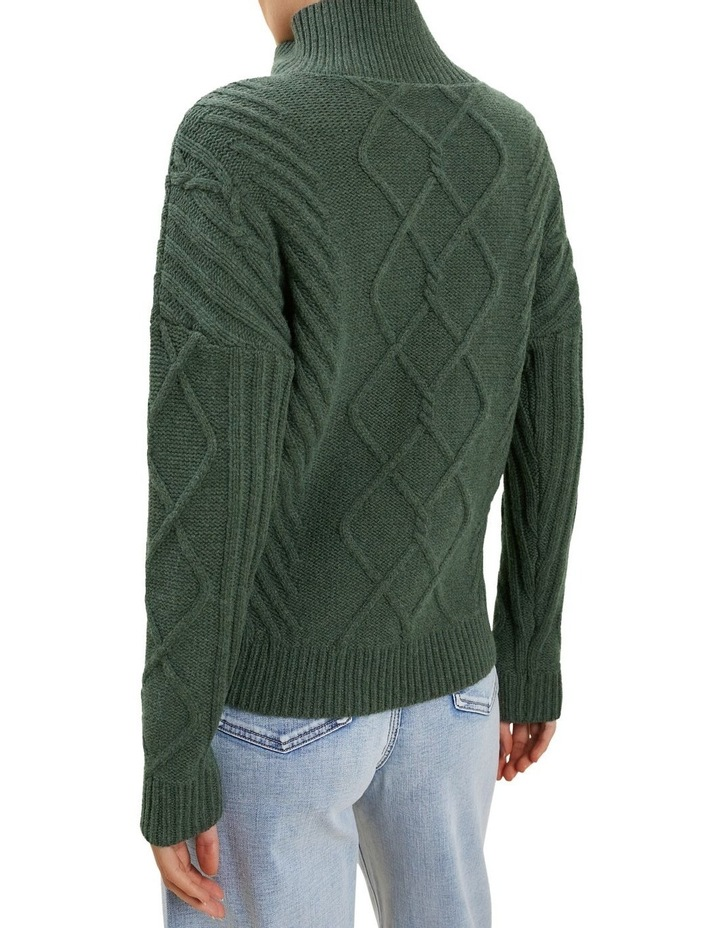 Zip Funnel Neck Sweater image 3