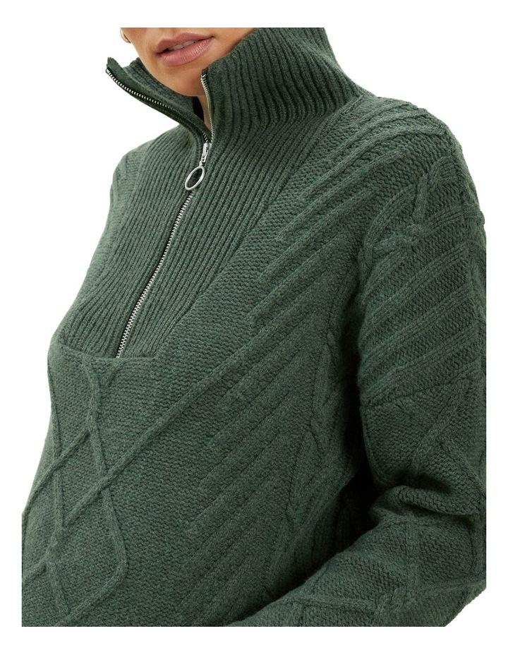Zip Funnel Neck Sweater image 4