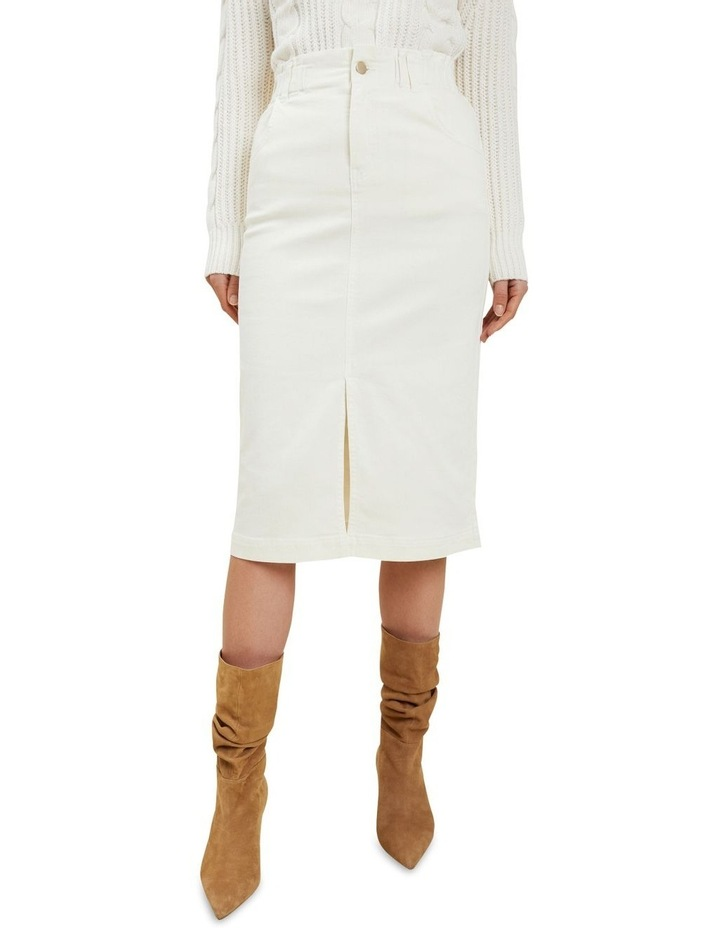 Denim Midi Elastic Skirt image 1