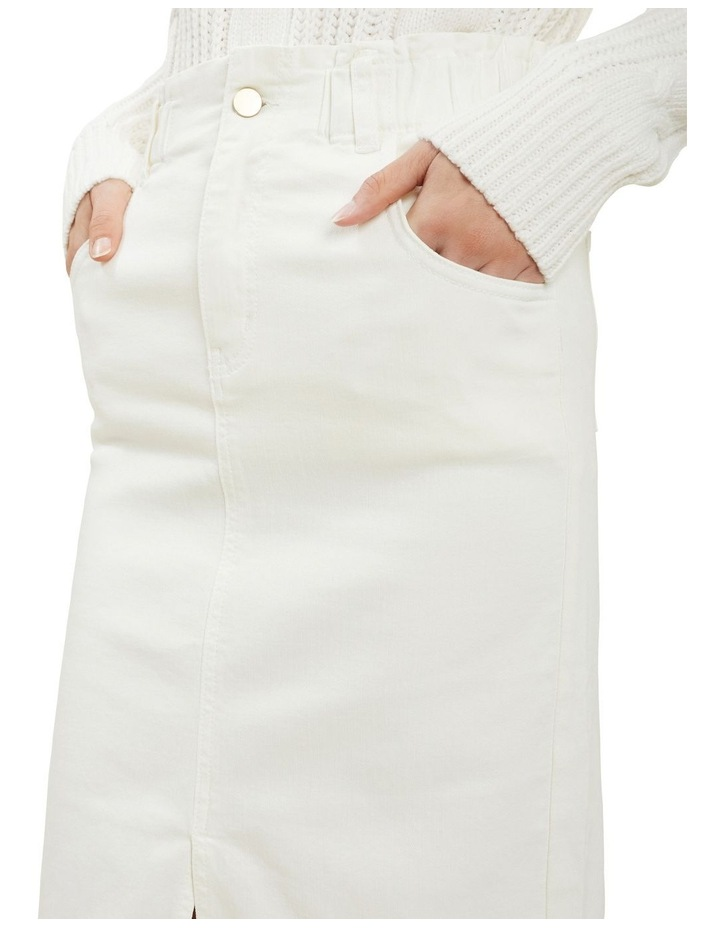Denim Midi Elastic Skirt image 4