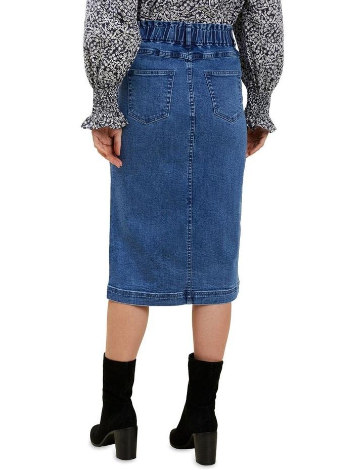 Denim Midi Elastic Skirt image 3