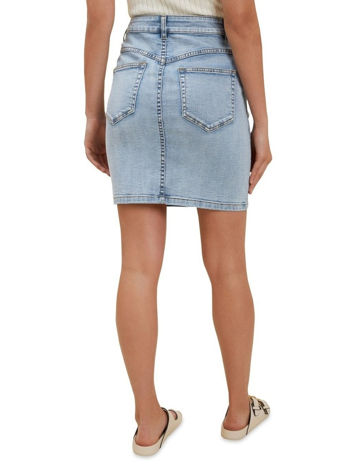 Denim Pintuck Mini Skirt image 2