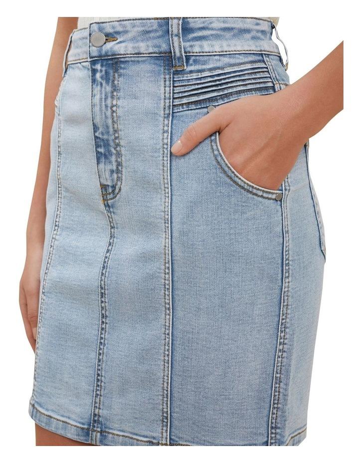 Denim Pintuck Mini Skirt image 4