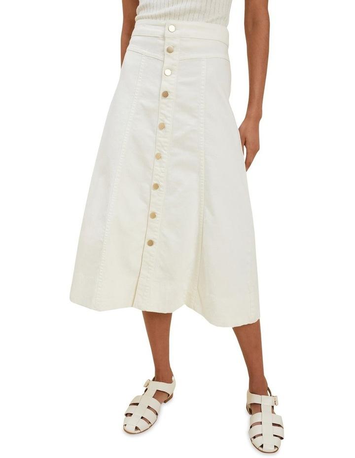 Denim Button Midi Skirt image 1
