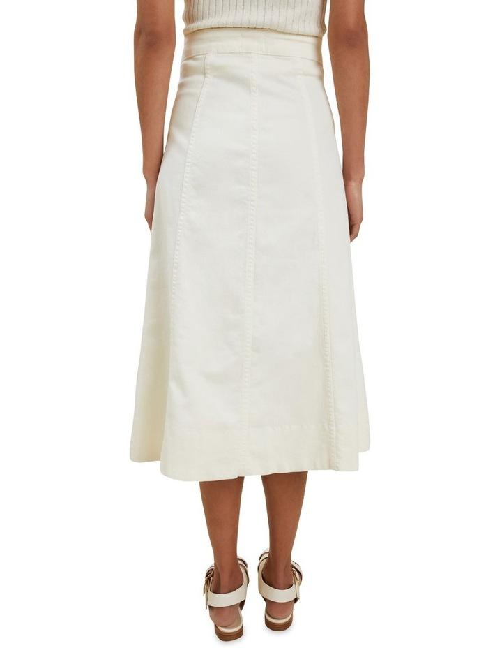 Denim Button Midi Skirt image 2