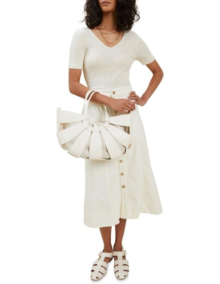 Denim Button Midi Skirt image 3