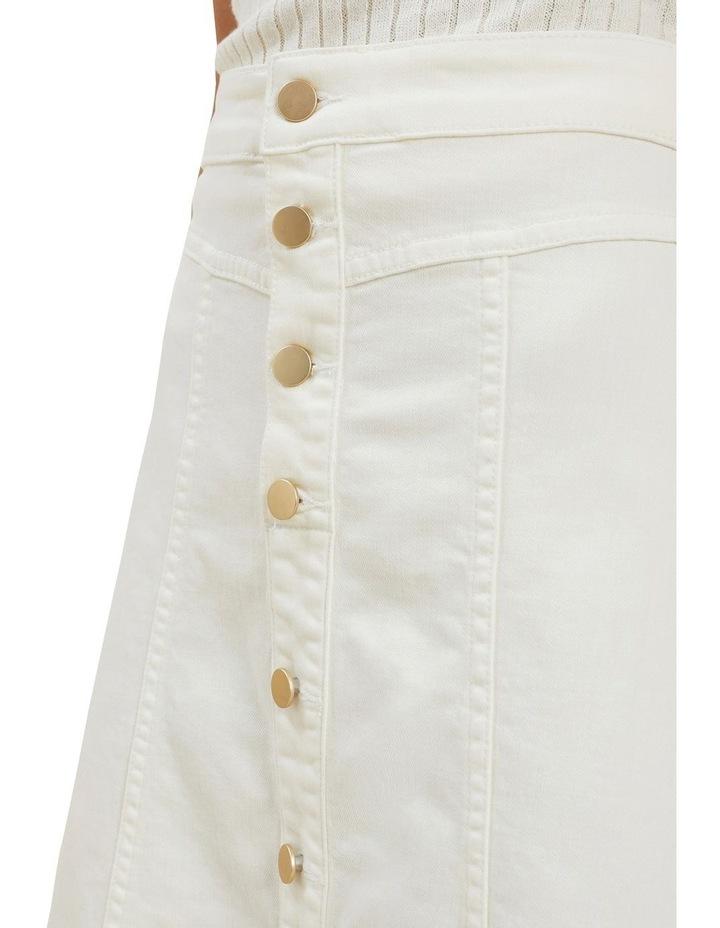 Denim Button Midi Skirt image 4