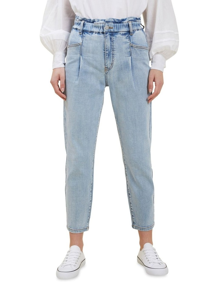 Tapered Pleat Front Jeans image 1