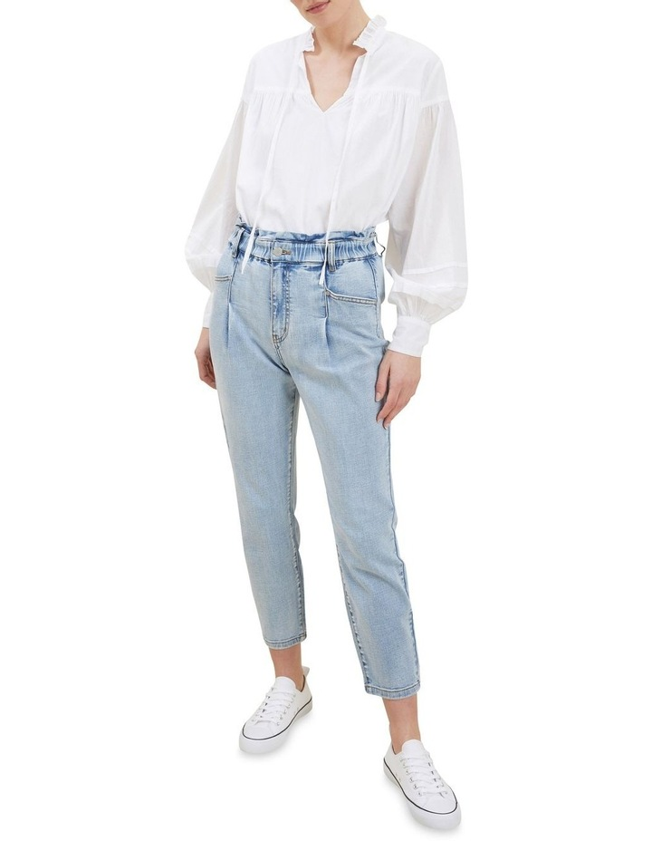 Tapered Pleat Front Jeans image 2