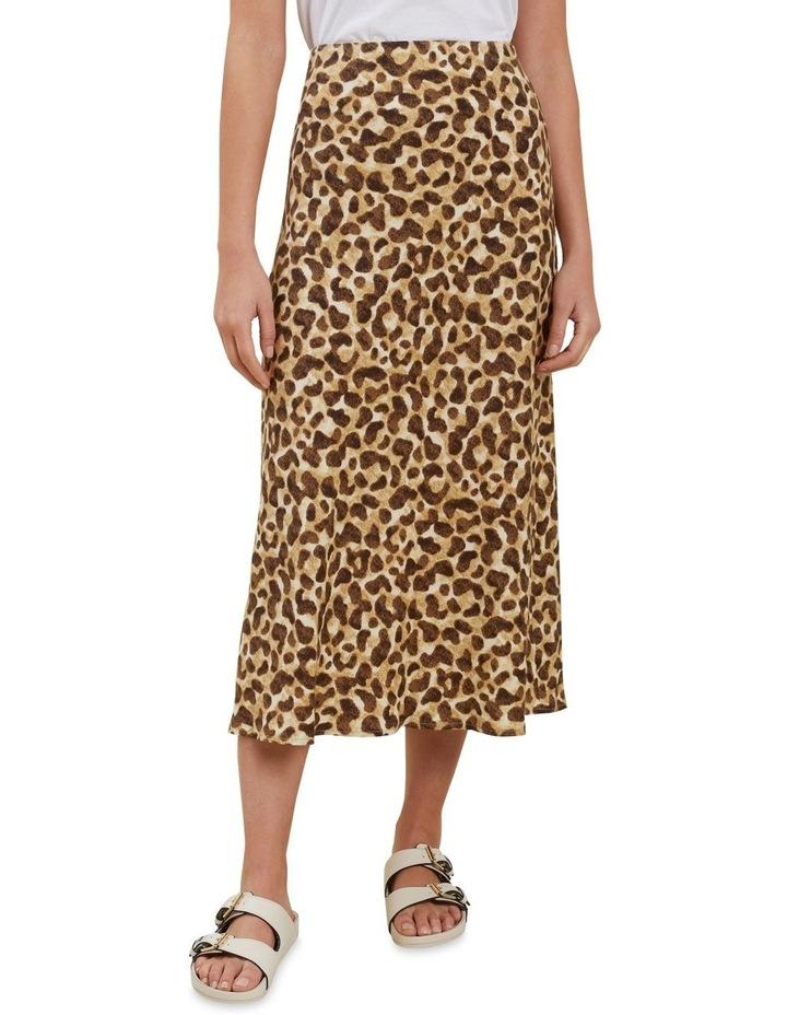 Leopard Slip Skirt image 1