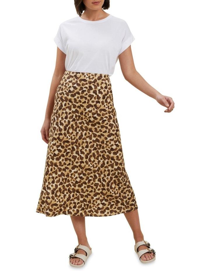 Leopard Slip Skirt image 3