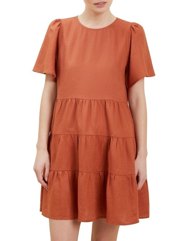 Linen Tiered Dress image 1