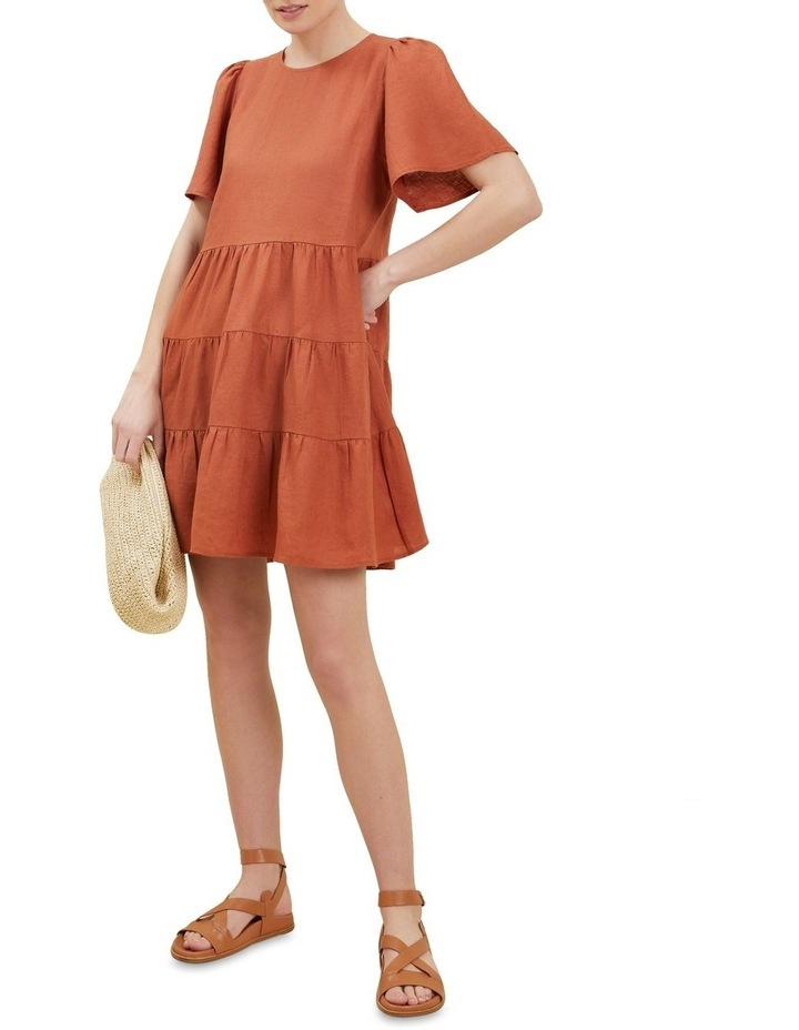 Linen Tiered Dress image 2