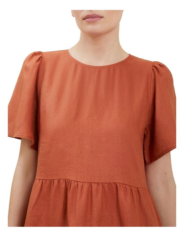 Linen Tiered Dress image 4