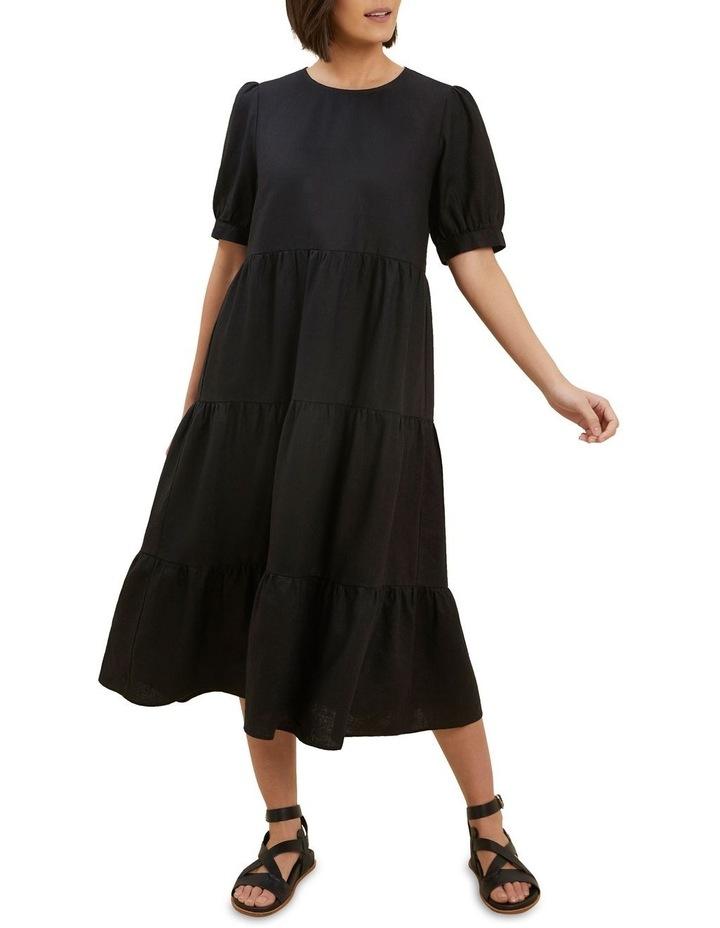 Linen Tiered Midi Dress image 1