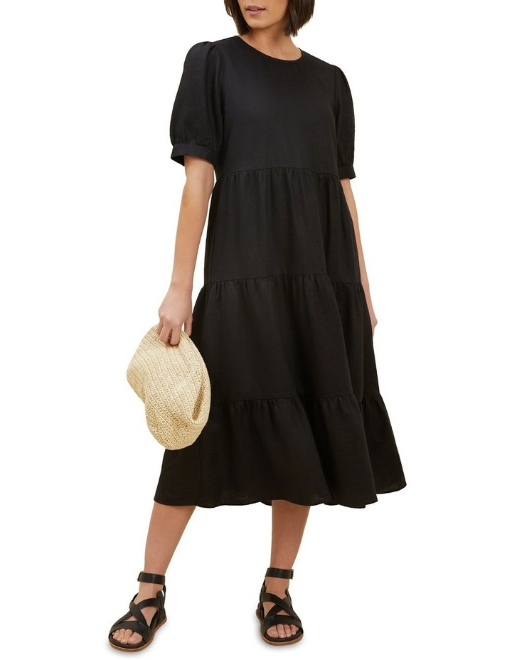 Linen Tiered Midi Dress image 2