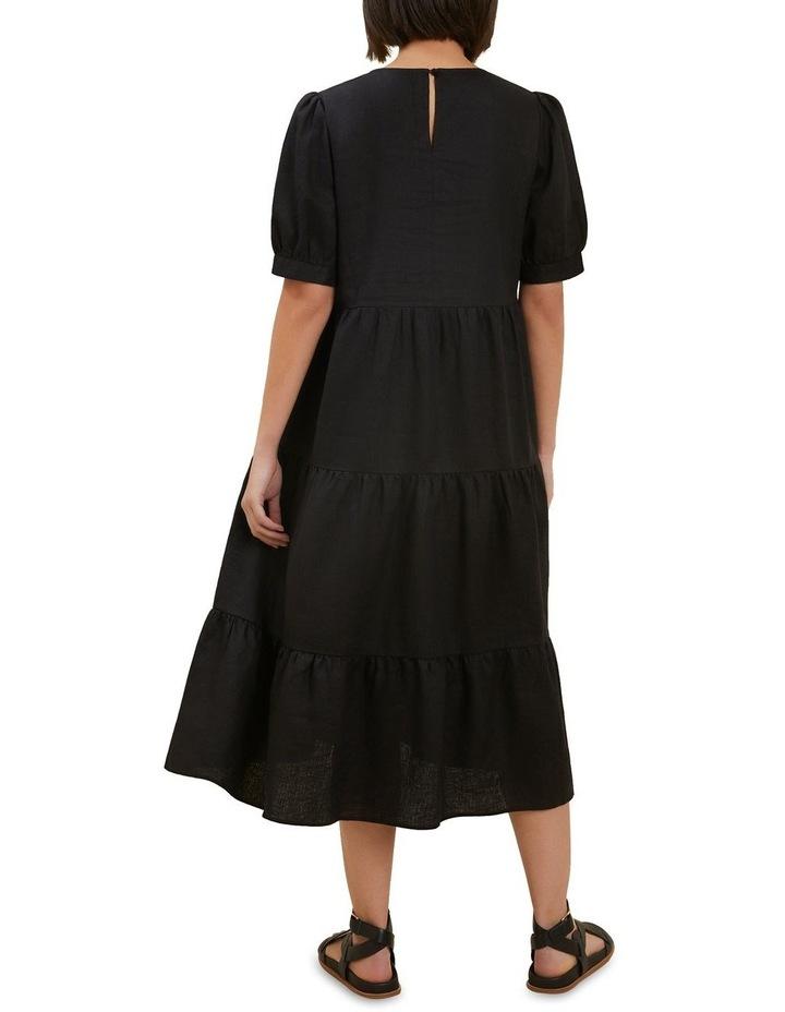 Linen Tiered Midi Dress image 3