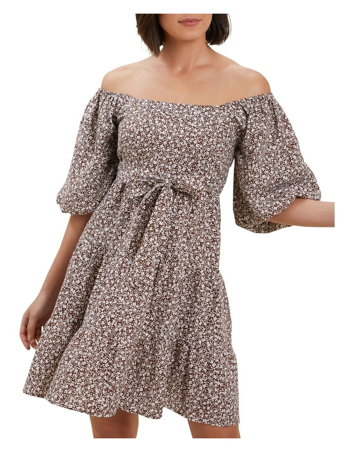Linen Ditsy Mini Dress image 1