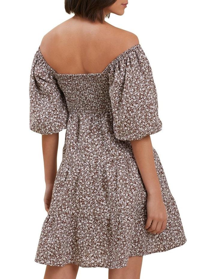 Linen Ditsy Mini Dress image 3