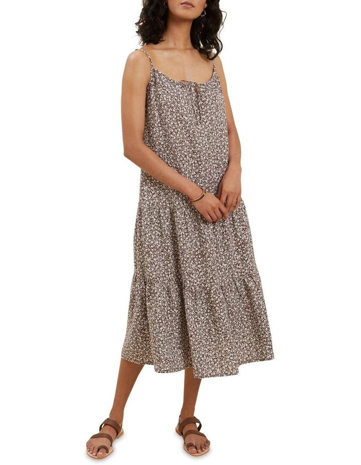Linen Ditsy Midi Dress image 1