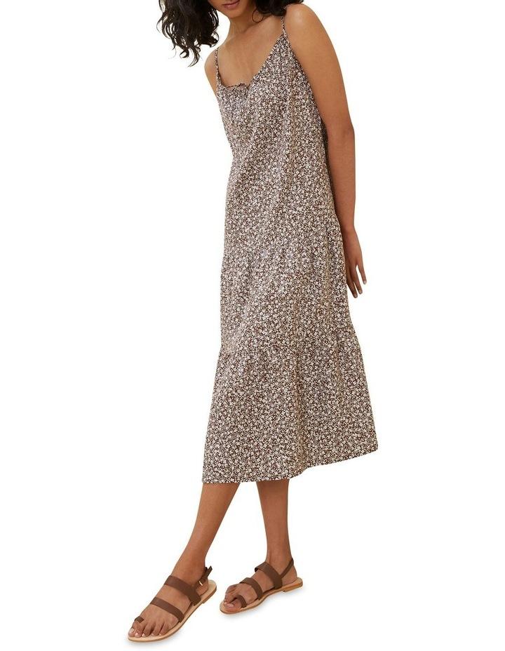 Linen Ditsy Midi Dress image 2