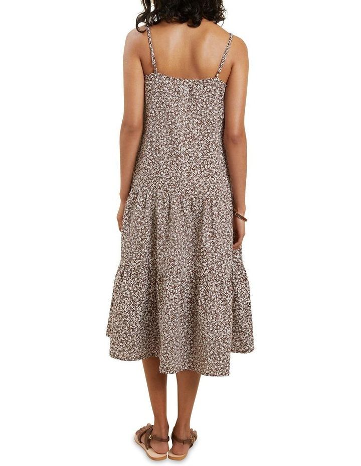 Linen Ditsy Midi Dress image 3