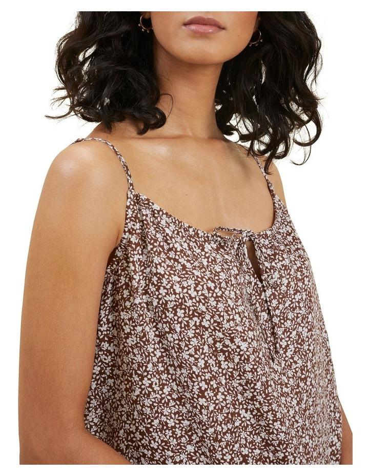 Linen Ditsy Midi Dress image 4