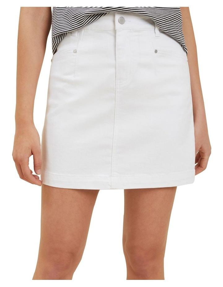 Denim A Line Mini Skirt image 1