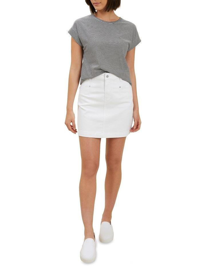 Denim A Line Mini Skirt image 2