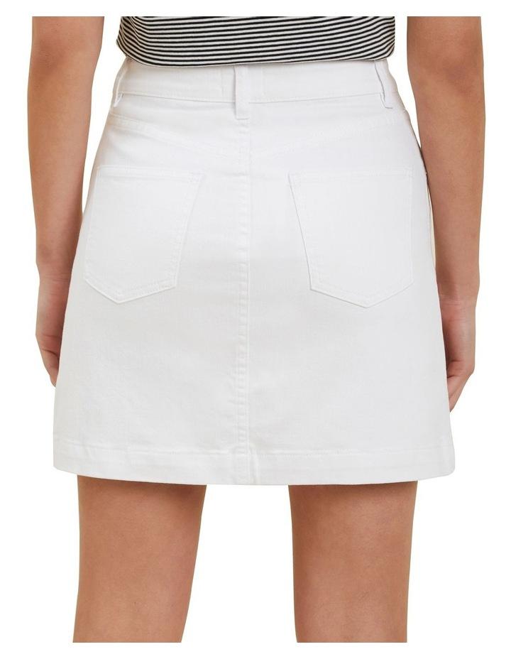 Denim A Line Mini Skirt image 3