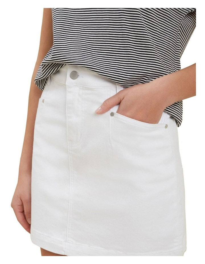Denim A Line Mini Skirt image 4
