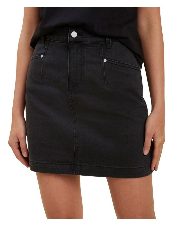 Core Denim A Line Mini Skirt image 1