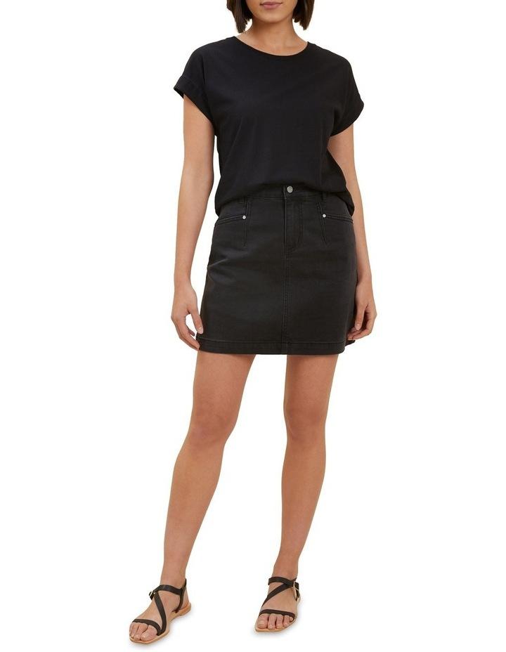 Core Denim A Line Mini Skirt image 2